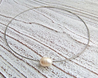 Necklace white #81,freshwater pearls,Ladies Necklace,Handmade Jewelry,Multi-strand,Statement Jewelry,Women,Wedding,Gift for her,Creme White
