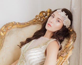 Designer couture bridal headpiece - Style H14