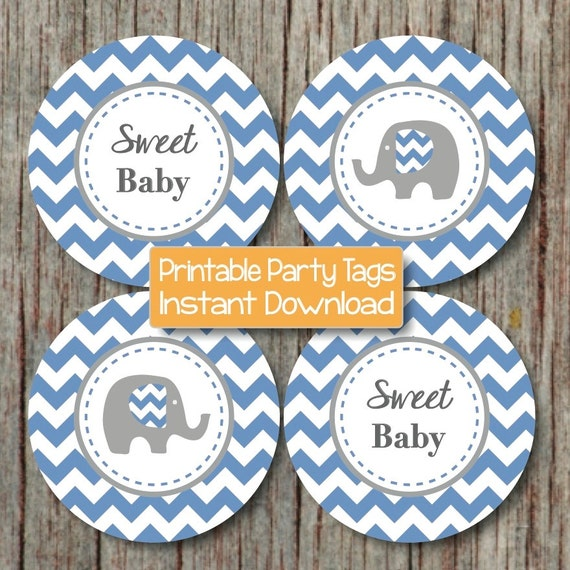 Baby Shower Gift Tags Printable Free: Items Similar To Baby Shower Printable Favor Tags DIY