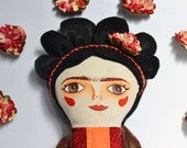 Frida: Handmade doll / Cloth doll / stuffed doll