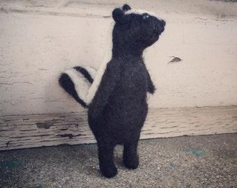 Little Needle Felted Skunk