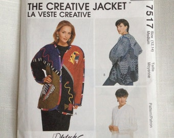 McCall's Pattern 7517 Misses Lined or Unlined Jacket Size 12 - 14 Medium