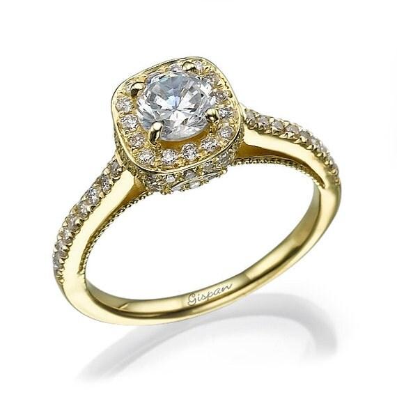 Antique engagement ring Unique engagement ring Art nouveau
