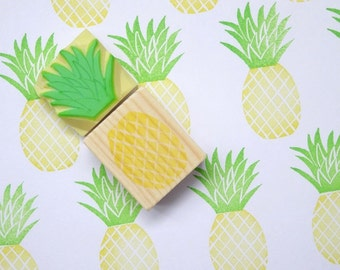 Pineapple stamp, Tropical fruits, Rubber stamps, Fresh fruits, Custom stamp, Funny stamp, Cute stationery, Scrap booking Wrapping paper idea
