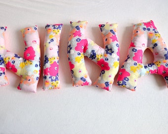 Cushion letters, the perfect gift for a baby