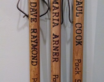 Personalized Cub Scout Wooden Hiking Walking Stick B.S.A. Wood Burned Pyrography