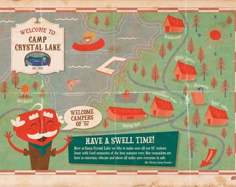 Friday the 13th Camp Crystal Lake Print