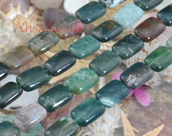 India Agate,smooth rectangle,12x16mm,beads,15 inches