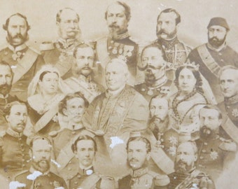 Vintage 1890's Sovereigns of Europe CDV Photo - George Stinson & Co. Portland Maine - Free Shipping