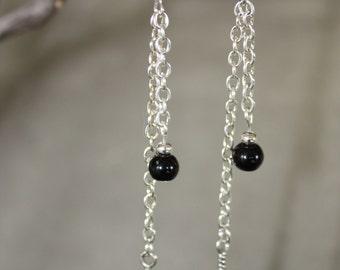 Feather chain earrings