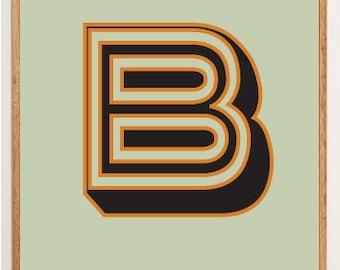 Mid-Century Modern Letter B