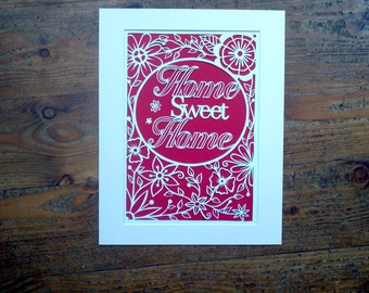 a digital template, Home sweet Home paper cut template with personal rights