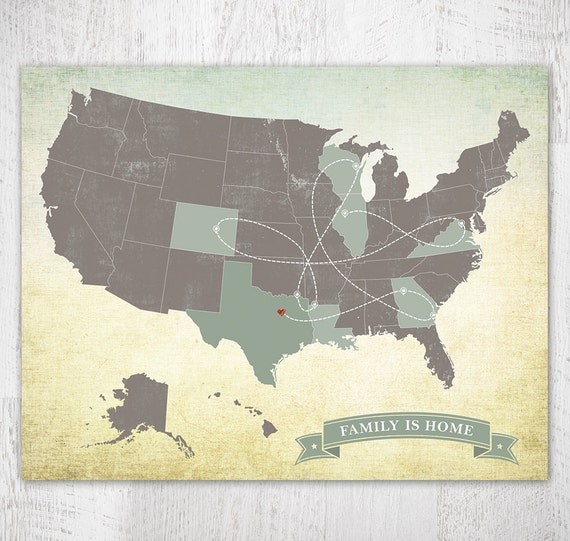 Traveling To The United States: United States Map US Map Travel Map Push Pin Map Long