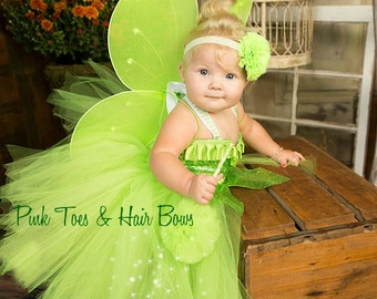 Tinkerbell Tutu Dress- Tinkerbell costume-Tinkerbell dress-Fairy costume