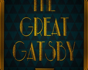 The Great Gatsby Poster - F. Scott Fitzgerald