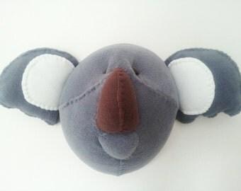 KIEFER KOALA - Faux Taxidermy Fabric Wall Mounted Animal Head