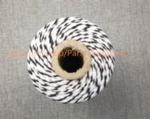 Baker Twine 110 Yards Black White Bakers Twine FULL SPOON Craft Gift Wrap Scrapbook Packaging