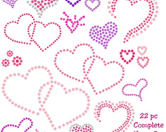 sticky flock pre cut templates - items similar to precut sticky flock template love 3