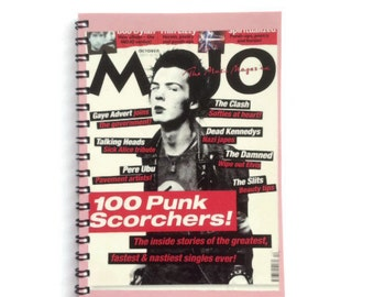 Sid Vicious | Notebook  | SEX PISTOLS  | Notepad | Punk Rock | Blank Book | Gift Idea |  For Him | For Her