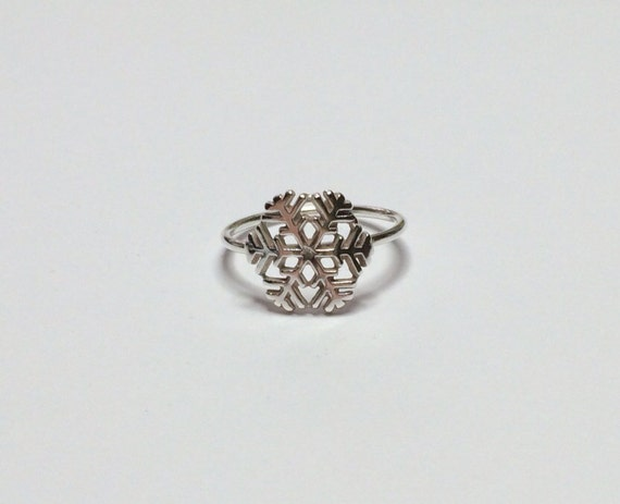 snowflake ring sterling silver
