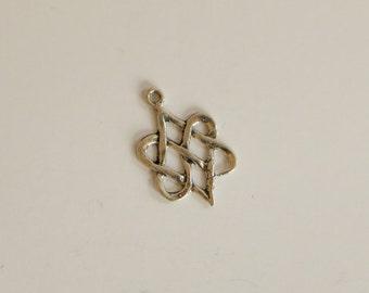 SALE!!!  Vintage Celtic Knot Sterling Silver Pendant Charm