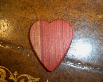 Red Heart (Heart Shaped) Wooden Guitar Pick