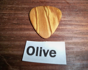 Olive wood Guitar pick from  the Holy land.