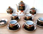 RESERVED TO RYAN. Vintage Japanese Uchida Porcelain Coffee/Tea set