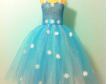 Frozen dress/ elsa dress/ elsa costume/ disney princess/ Halloween costume