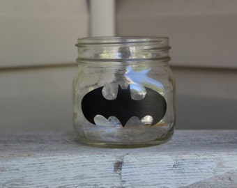 24 Batman birthday party bachelor party chalkboard labels for cups wine glasses glass mason jar jars goodie bags name tags decorations
