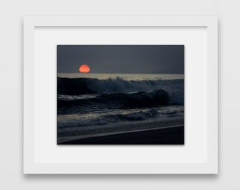 California Love Sunset Fine Print | Beach Sunset Photography | Summer Posters | Malibu, California | West Coast Sunset