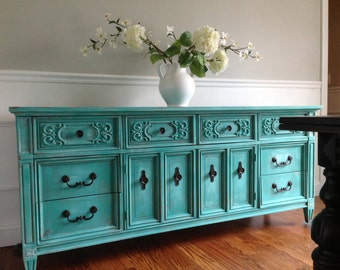 Teal Furniture furniture curatedscissors + thread on etsy