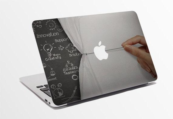 Macbook decal custom sticker for computer reveal the soul design apple logo 765 88