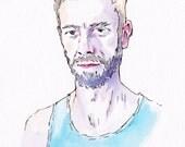 Custom Pen & Watercolour Portrait