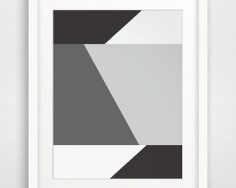 Geometric Art, Black and White Prints, Minimalist Print, Printable Wall Art, Grey Wall Prints, Geometric Prints, Modern Wall Art, Printable