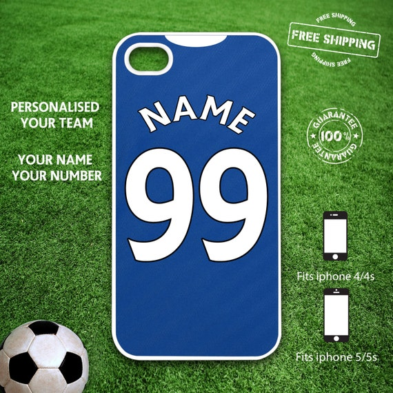 Chelsea FC Personalised Iphone 4/4s Iphone 5/5s Case Hard Cover ...