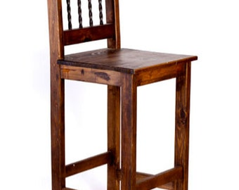 Rustic Barstool -handcrafted rustic furniture