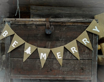 Merry Christmas Banner Be Merry Banner Be Merry Garland Be Merry Bunting Christmas Banner Be Merry Christmas Garland Christmas Decor