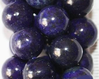 "Lapis Lazuli Beads - Round 10 mm Gemstone Beads - Full Strand 16"", 40 beads, A-Quality"