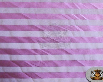"Organza Stripes Fabric Bubble Gum / 60"" Wide / Sold by the yard"