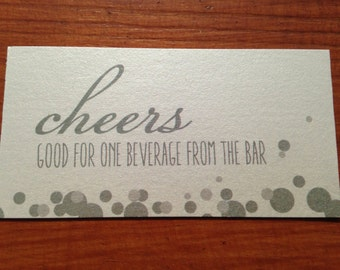 Drink Tickets Wedding, Special Event