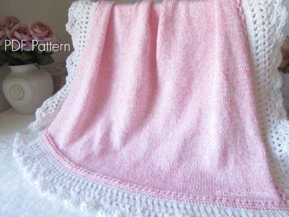 Royal Baby Dress Knitting Pattern : Knit Baby Blanket PATTERN 71 Royal Knitting PATTERN 71