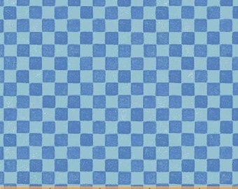 SUPER CLEARANCE! One Yard Blue Check - The Three Bears Cotton Quilt Fabric - Windham Fabrics (W479)