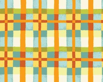 "REMNANT!! Mischief  - Happy Plaid in Aqua - Little Boy Fabric Line - 33"" x WOF - Designed by Nancy Halvorsen for Benartex (w892)"