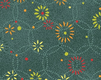 "10"" REMNANT Jingle All The Way - Shining Bright in Teal - Christmas Cotton Fabric Line Designed by Nancy Halvorsen for Benartex (w1017)"