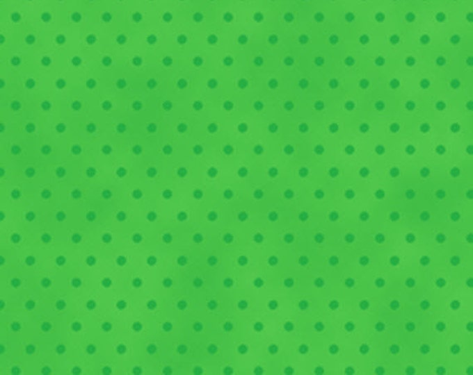 One Yard More Elf on the Shelf - Dot Blender in Green - Cotton Quilt Fabric - from Quilting Treasures (W1989)