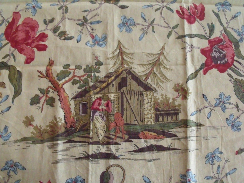 remnant sale france cotton print ma cabane au canada brunshwig. Black Bedroom Furniture Sets. Home Design Ideas