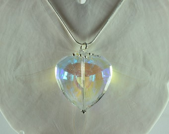 Big Crystal Heart Pendant, Metaphysical Crystal, Meditation Necklace, Crystal Heart Necklace, Big Crystal Necklace, Crystal Pendant, N1067