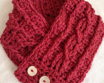 Chunky crochet Fisherman's wife cowl scarf neckwarmer