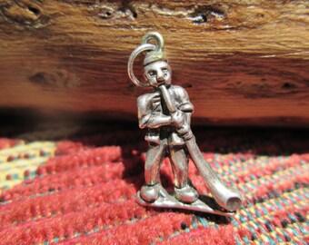 Sterling Swiss Alpenhorn Blower Charm